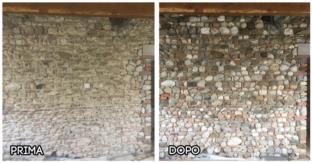 Criosabbiatura Muro Pietra