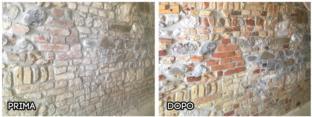 Sabbiatura Muro Pietra